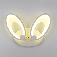 24W LED wall lamp Acrylic Rabbit Ears Shape Wall Lamps AC110V 220V corridor hallway stairs lights Children Bedroom Dual lighting