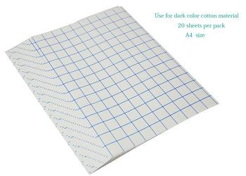 Darmowa dostawa! A4 papier do sublimacji na ciemny kolor materiał bawełna T-shirt itp tanie i dobre opinie szsanhe dark color cotton paper Other