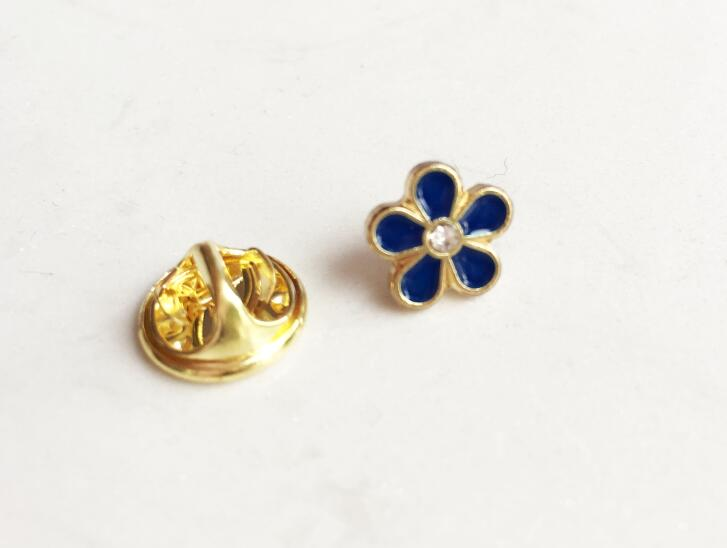 Оптовая продажа со стразами 10 мм мини цветок масонские нагрудных Шпильки знак Мейсон масоном Forget Me Not