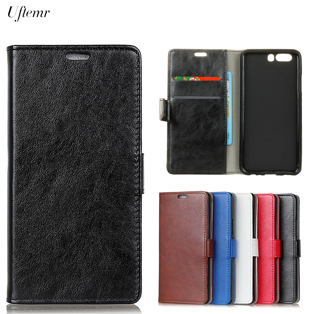 Uftemr Luxury Business Leather Case For Huawei P10 Plus Crazy House Skin Flip Cover For Huawei P10 Plus Phone Accessories
