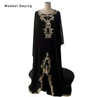 Real Photo Black and Gold Lace Bridal Boleros 2018 Formal Women Muslim Wedding Jackets Floor Length Coats Wedding Accessories