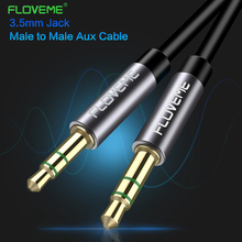 FLOVEME AUX Cable 3.5mm jack male to male jack 3.5 mm Hi-Fi Stereo Gold Plated Aux Audio Cables for Car Headphone Beats Speaker