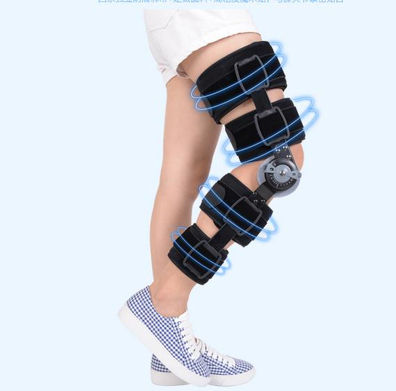 Adjustable knee joint meniscus knee rehabilitation equipment maintenance men and women with a fixed fractures knee ligament reco