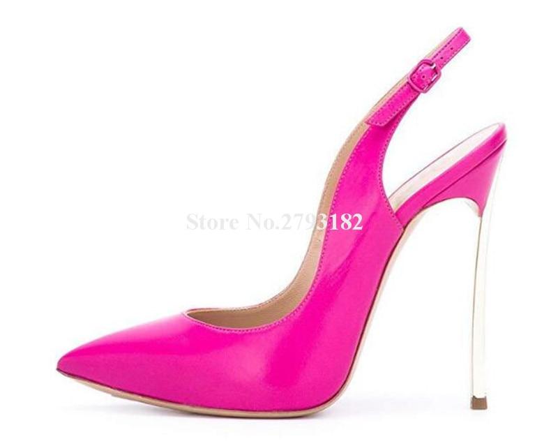 Фирменный дизайн; женские модные туфли лодочки с острым носком на шпильках; туфли лодочки на тонком каблуке с вырезами; цвет розовый, оранже... - 4