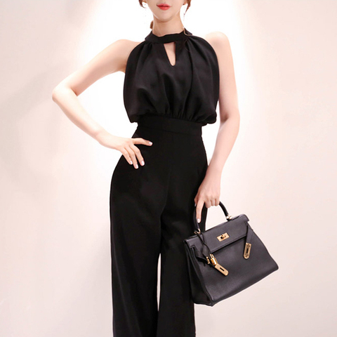 2019 Summer Women Jumpsuits Casual slim Fashion Elegant Office Lady Workwear Romper Pakistan