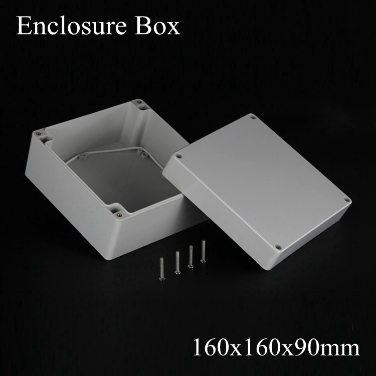 (1 piece/lot) 160*160*90mm Grey ABS Plastic IP65 Waterproof Enclosure PVC Junction Box Electronic Project Instrument Case waterproof abs plastic electronic box white case 6 size