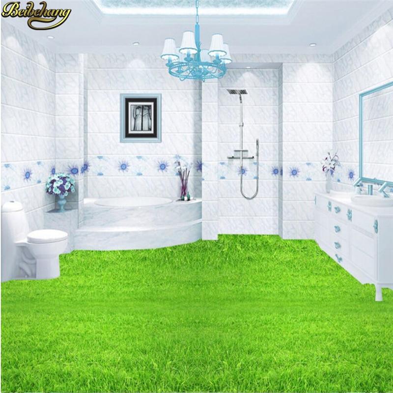 Beibehang Custom Photo Wallpaper Floor Painting 3D Floor Green Grass TV Background Wall Papel De Parede