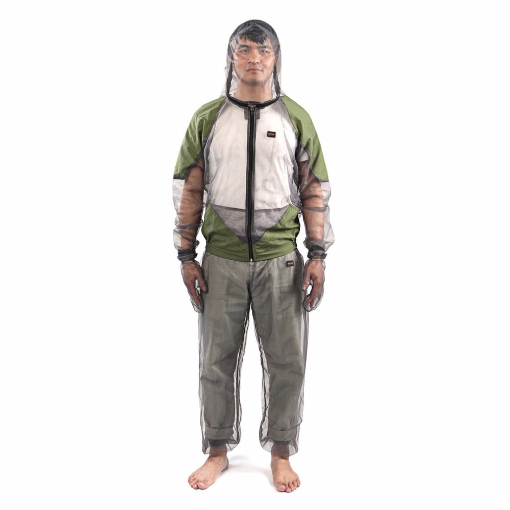Outdoor fishing clothes Anti mosquito clothing men quick-drying breathable fishing hat with mosquito net mosquito prevent suit men s anti uv quick dry fishing suit outdoor clothing with mask