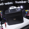 Women noble Crown Large Capacity Professional Makeup Organizer High Quality Cosmetic Bag Portable Brush Storage Case Bolso Mujer