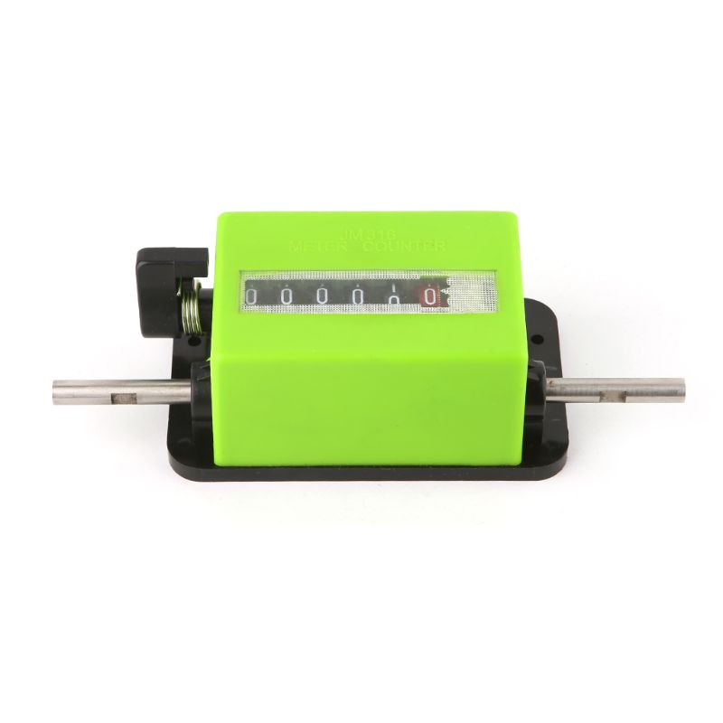 JM316 Rotation Counter Meter Wheel Rolling Type Textile Machinery Counting Measuring Length