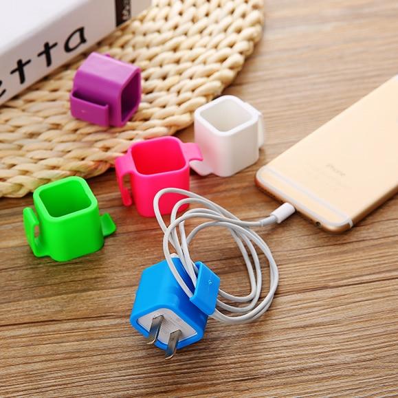 100 Stks Kleurrijke Kabel Draad Organisator Kabel Clip Netjes Usb Charger Plug Koord Houder Kabel Vaste Klem Voor Iphone 5 5 S 6 6 S 7