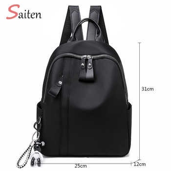 New Waterproof Nylon Women Backpack Zipper School Bags For Teenagers Girls Small Pendant Backpack Female Multifunction Rucksack - DISCOUNT ITEM  39% OFF All Category