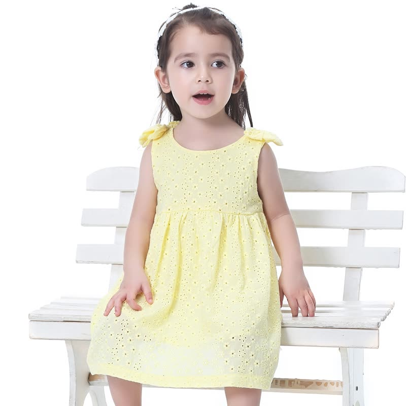 Homix 6-36months Baby Girl Princess Lace Dresses Clothes 100% Cotton Summer Sleeveless Clothes Toddler Colthing