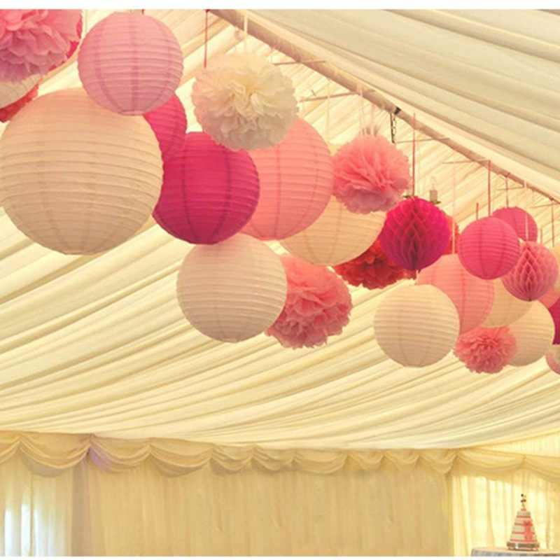 4-6-8-10-12-14-16inch รอบโคมไฟกระดาษจีนคริสต์มาสฮาโลวีนงานแต่งงานตกแต่งแขวนกระดาษโคมไฟ Lampion