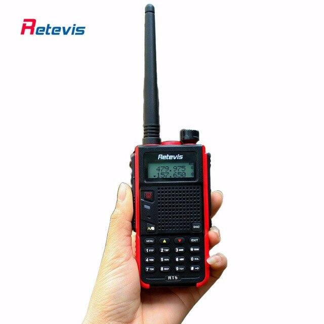 5W Retevis RT5 Handy Walkie Talkie 128CH VHF UHF 136-174&400-520MHz VOX DTMF Frequency Portable Radio Set Ham Radio Transceiver