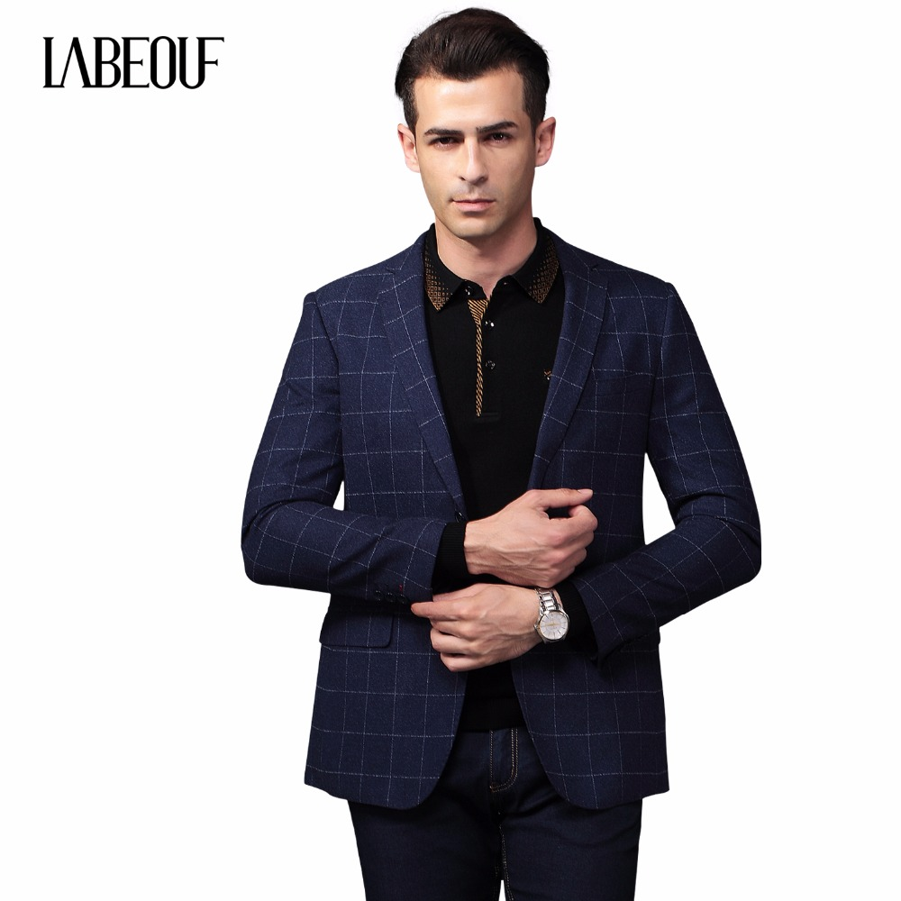 Plaid Casual Suit Jacket Men Blazer Labeouf Men Suit ...