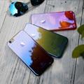 Caso para iphone 7 6 floveme 6 s mais chapeamento plástico blu-ray gradiente casos de cor para iphone 6 6 s 7 plus ultra fino claro coque