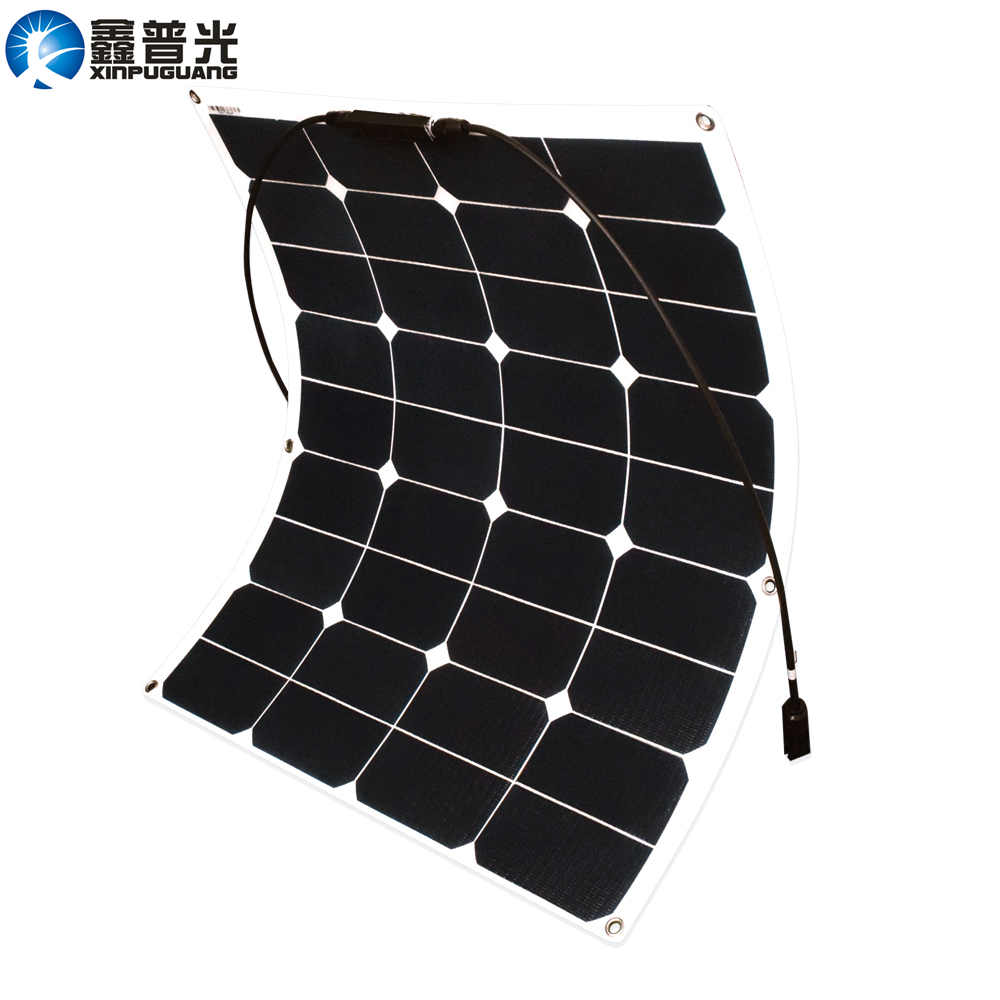 Xinpuguang 60W 20V ETFE Flexible Solar Panel Solar Cell Module Light Durable for 12V Yacht Boat RV Battery DIY System Kits image