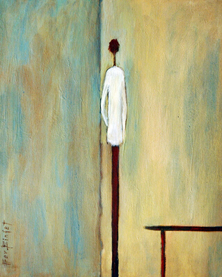 No Frame Modern Abstract Little Man Oil Painting On Canvas Simple Style Pictures Home Decor Unique Home Decoration Wholesales