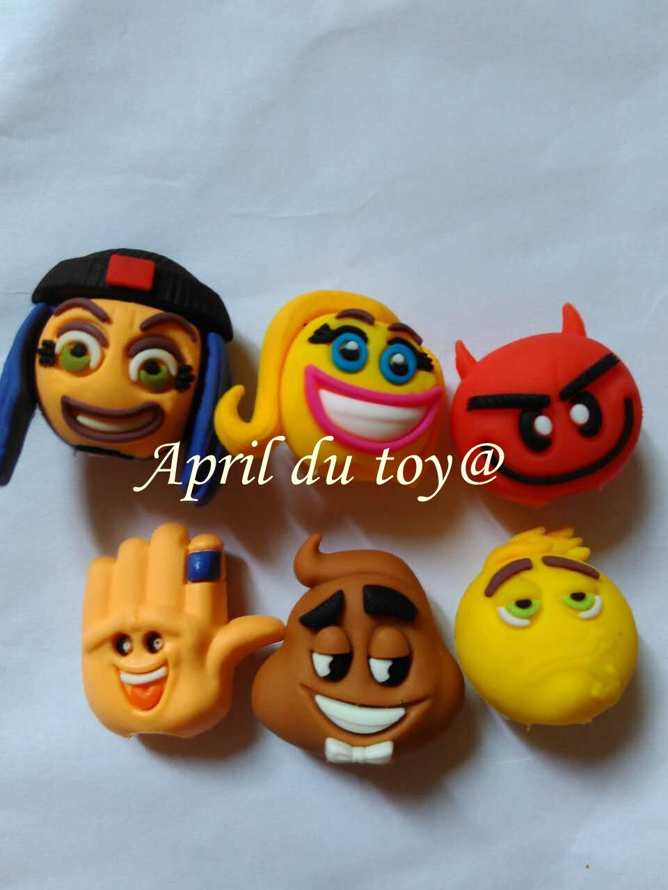 6pcs lot Mini Size emoji Pencil Topper Movie Roles Action Figures Model PVC Toys Gifts For