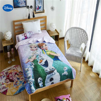 Disney Authentic FROZEN Elsa and Anna Quilts Blanket Summer Comforter Bedding Cotton Covers Children's Girls Kid Bedroom Decorat