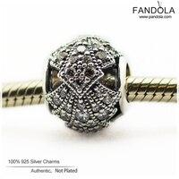 Oriental Fan Durchbrochene Charme Fit Europäischen Schlange Armbänder Silber 925 Original Perlen DIY Schmuck Machen für Frauen Berloque