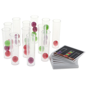 Image 3 - Perfeclan Kids Children Intellectual Pick Up Cards and Remove Balls into Tubes Developmental Board Game Fine Motor Skills