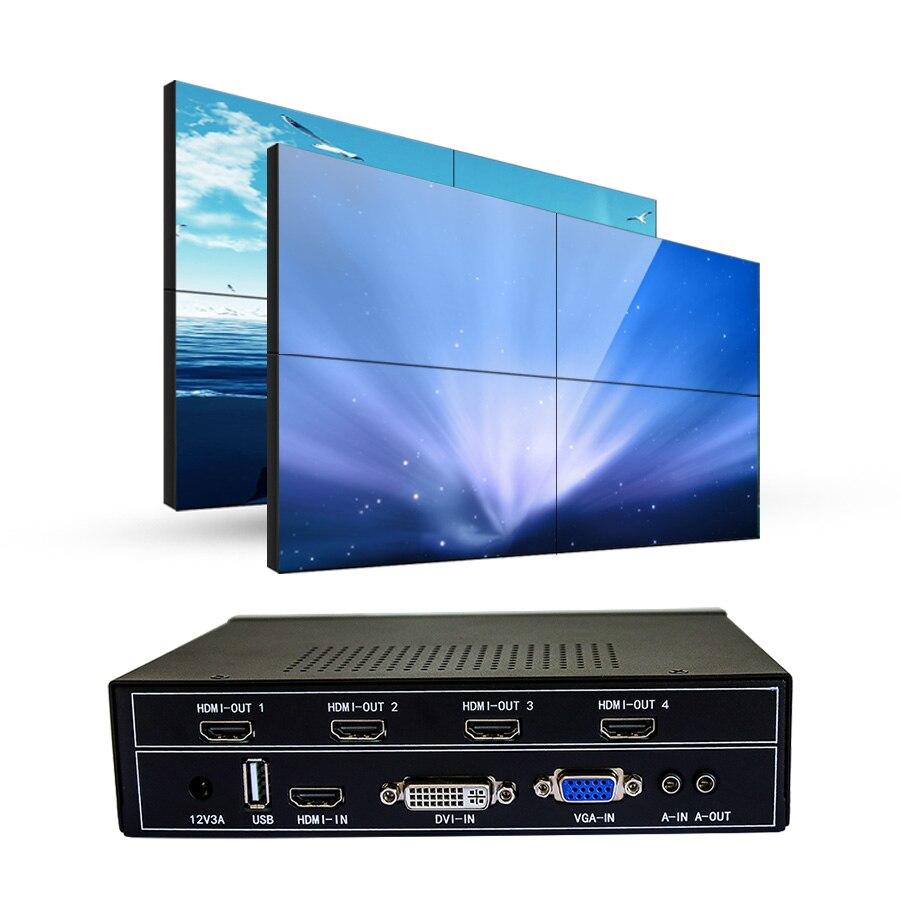 Contrôleur de mur vidéo 2x2 tv pour mur tv lcd