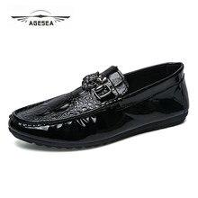 6a0e5083862 2018 Новый Мужские кожаные туфли ручной работы кожаные мокасины мужские  лоферы дизайн суперзвезда скольжения на комфорт обувь в .