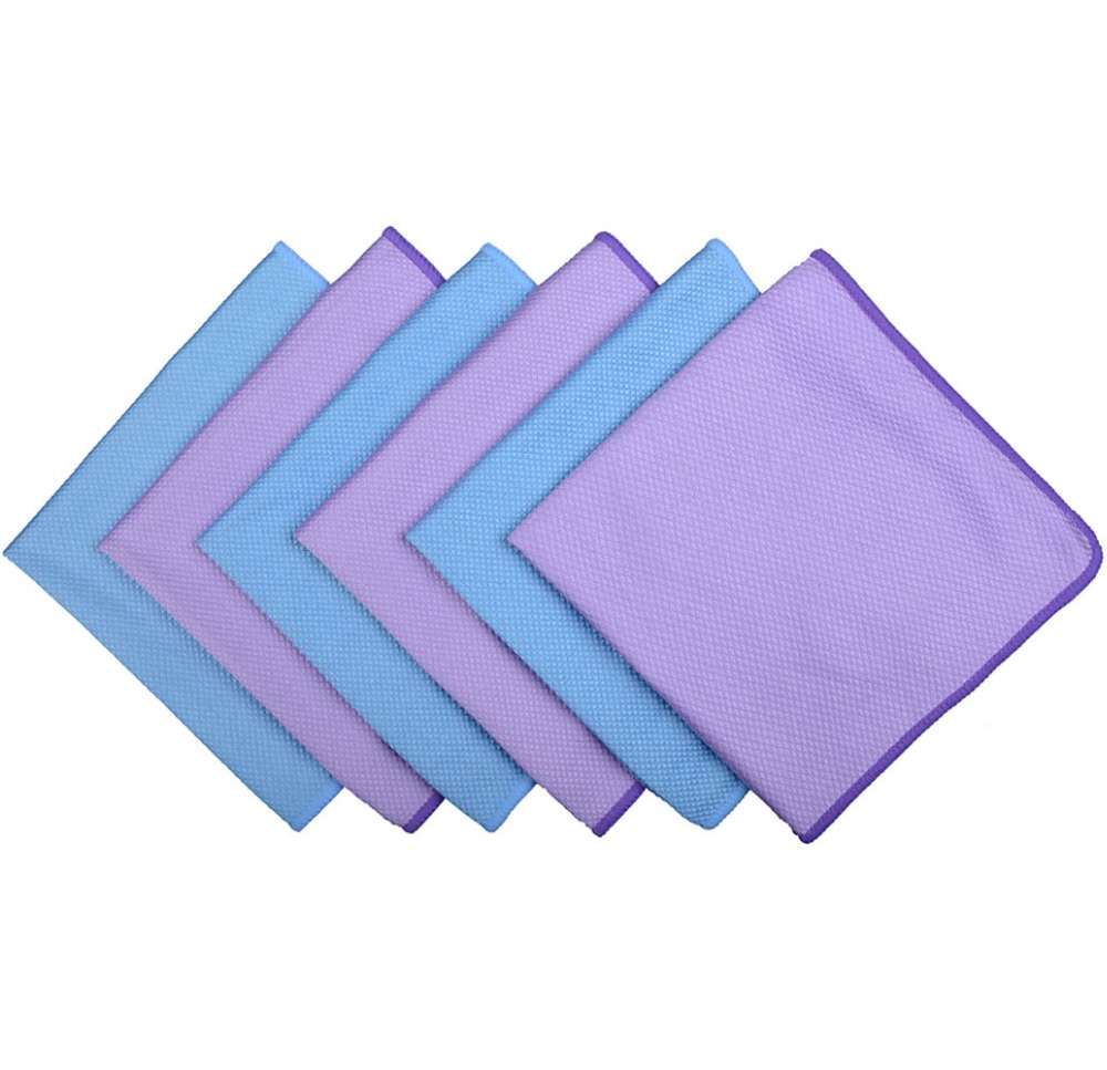6pcs 30cmx40cm Microfiber Polishing Cleaning Towel Glass Stainless Steel Cleaning Cloth Window Windshield cloth