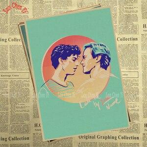 Image 3 - Call Me by Your Name Kraft Paper adornos de pared de papel, carteles para el hogar, Bar, decoración del hogar, regalo, decoración de pared para el hogar, pegatina
