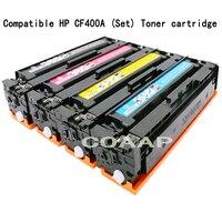 4 색 CF400A CF401A CF402A CF403A 토너 카트리지 HP 컬러 레이저젯 M252 M252dw M277n M252N M277dw 프린터