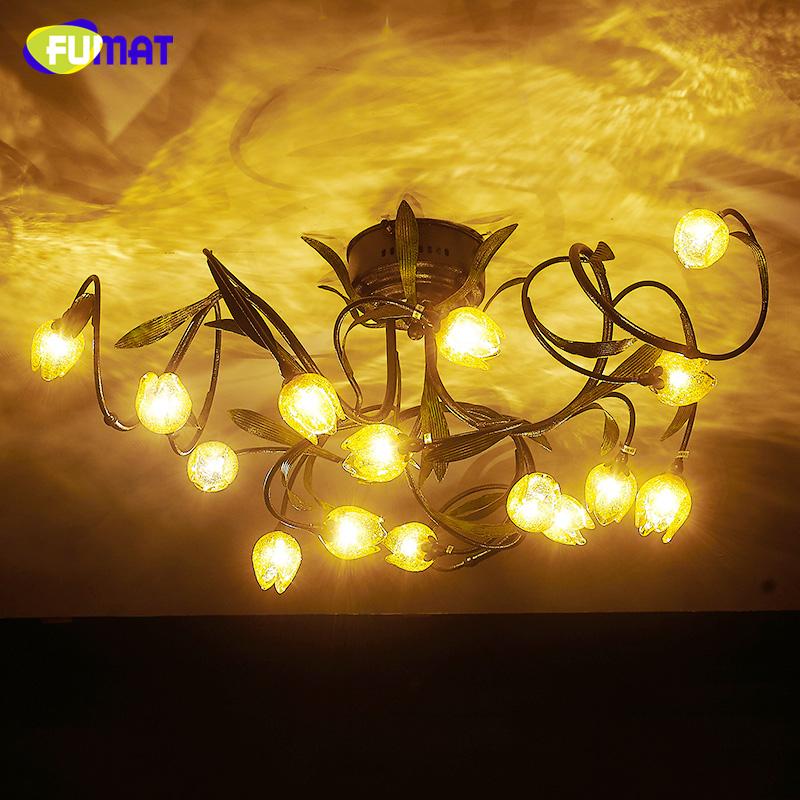 FUMAT Kreative Wohnzimmer Leuchten Kurze Moderne Led Deckenleuchte Lampe Fr Esszimmer Warmes Gelb Glas Kunst Dekor Decke