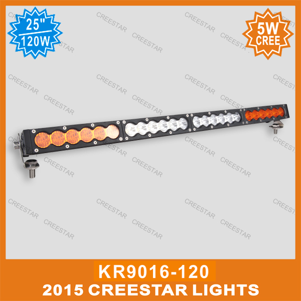120w Single row 5W  led light bar 12V 25inch led work light bar for truck boat suv atv KR9016-120 amber white Work driving bar видеоигра бука saints row iv re elected