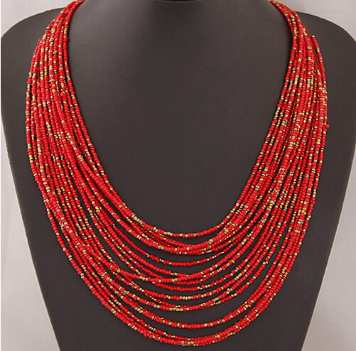 Wild Tribe Style Bead Necklace Body Jewelry