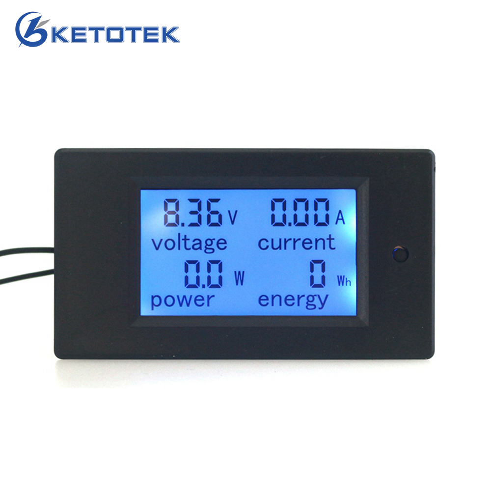 Digital Voltage ampere Power Energy meter monitor <font><b>DC</b></font> 6.5~<font><b>100V</b></font> 100A/<font><b>50A</b></font> Optional LCD Blue backlight <font><b>Voltmeter</b></font> <font><b>Ammeter</b></font> image