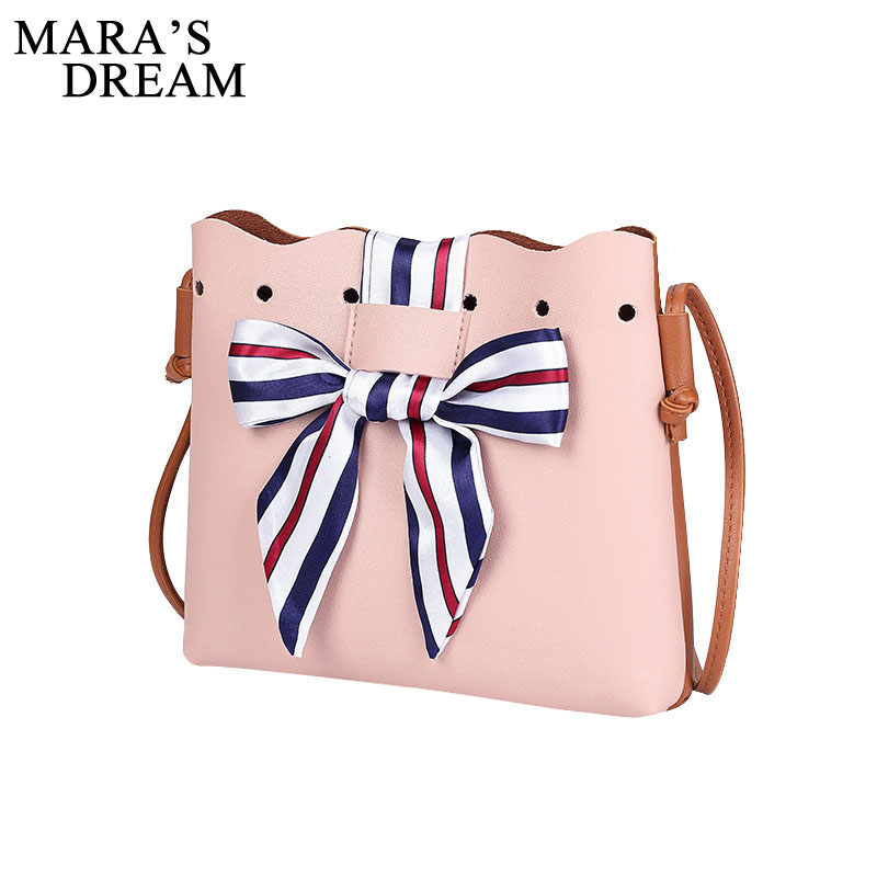 Mara's Dream 2018 New Fashion Women Bowknot Crossbody Bag Shoulder Bag Messenger Bag Bucket handbag Casual Tote bolsa feminina women handbag shoulder bag messenger bag casual colorful canvas crossbody bags for girl student waterproof nylon laptop tote