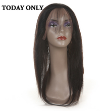Today Only Brazilian Straight Hair 360 Lace Frontal Closure Non-remy 100% Human Hair Tissage Bresilienne Natural Color 8″-20″