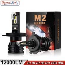 Braveway светодиодные лампы для автомобильных фар(H4 H7 H8 H9 H11 H1 HB3 HB4 9005 9006 светодиодные фары для автомобиля лампы Turbo лампы для автомобиля 12V 24V с can-bus