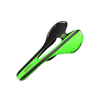 TOSEEK Carbon Fiber Saddle Bicycle Cycling Bike Road MTB Seats High Quality Green 3k Matte Carbon