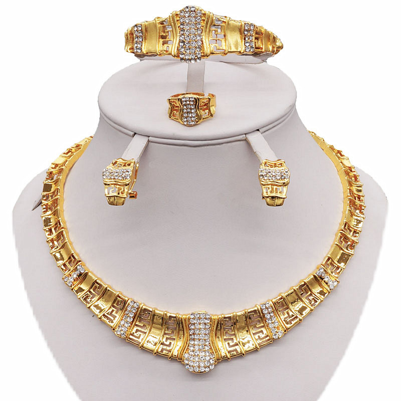 women jewelry sets african bead jewelry set wholesale women necklace weding Rhinestone necklace