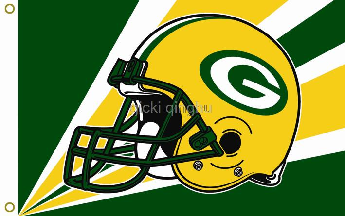 Green Bay Packers Helmet USA NFL Premium Team Football Flag Hot Sell Goods 3X5FT 150X90CM Custom flag,free shipping