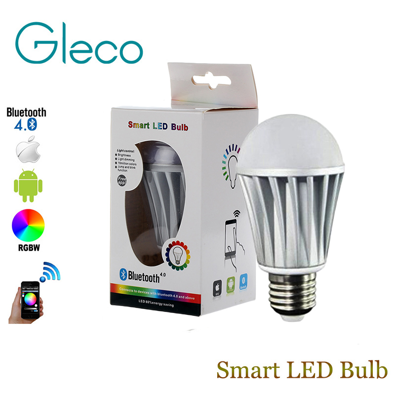 Bluetooth LED Bulb E27 RGBW 7.5W Bluetooth 4.0 Smart LED Bulb Timer Color changeable by IOS / Android APP bluetooth led bulb e27 rgbw 7 5w bluetooth 4 0 smart led bulb timer color changeable by ios android app