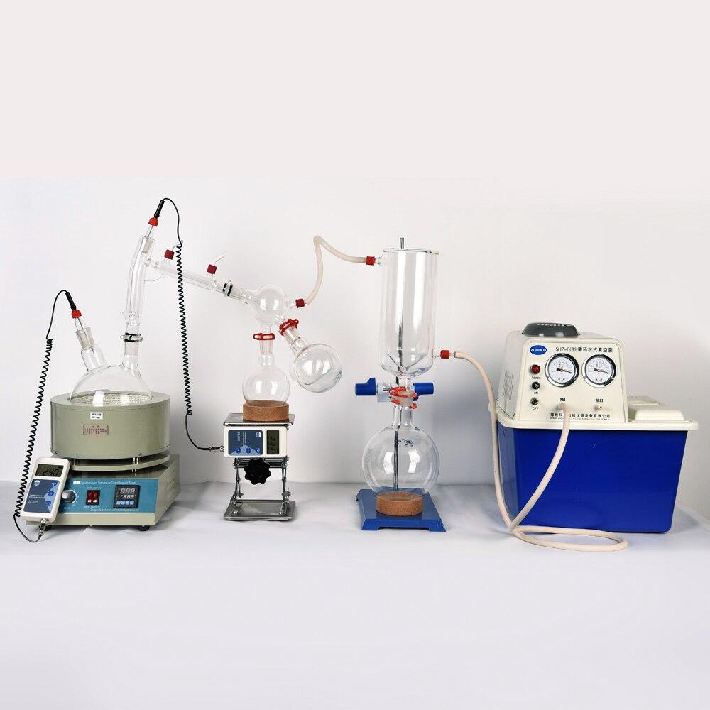 Équipement de laboratoire à petite échelle équipement de Distillation à courte distance 2L Distillation à courte distance comprend un kit de pompes à vide