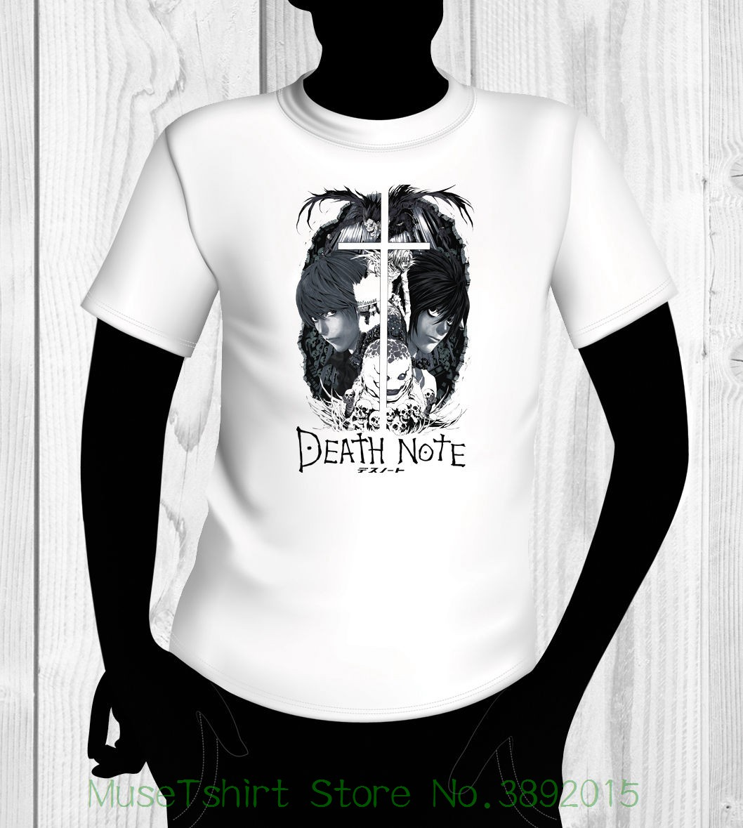 Death Note Shirt Usa Shipping 100% Cotton T Shirts Brand Clothing Tops Tees