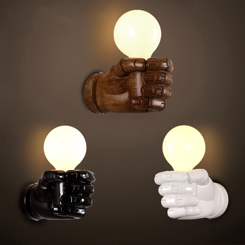 Art resin fist wall lamp retro loft cafe restaurant bar club lamp pub office study balcony aisle corridor bedside room light bra nordic retro loft lamps clain necklace lights cafe restaurant bar pub living room dining room club pub aisle stair hall lamp