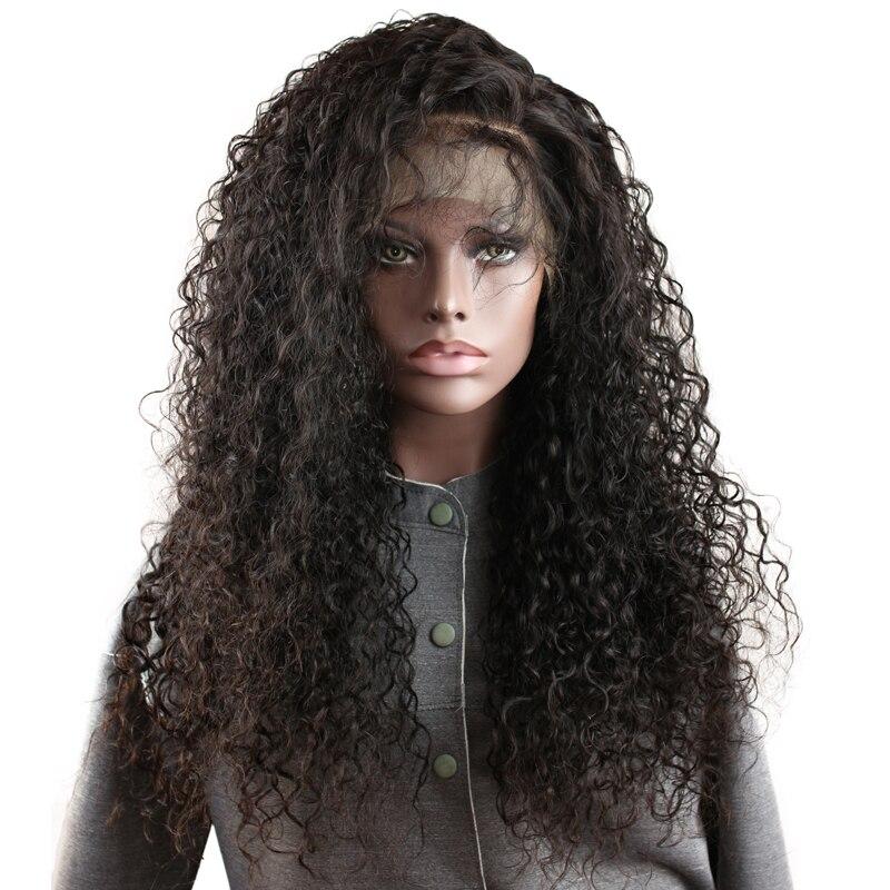 Глубокий вьющиеся 13x6 250 плотность человеческих волос Синтетические волосы на кружеве Парики бразильского Волосы remy Бесплатная Часть Glueless ч...
