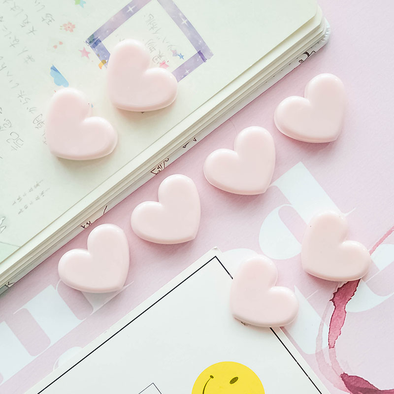 5 Pcs/lot Pink Love Clip Soft Girl Heart Book Folder Peach Heart Photo Clip Decoration Cute Plastic Sealing Clip
