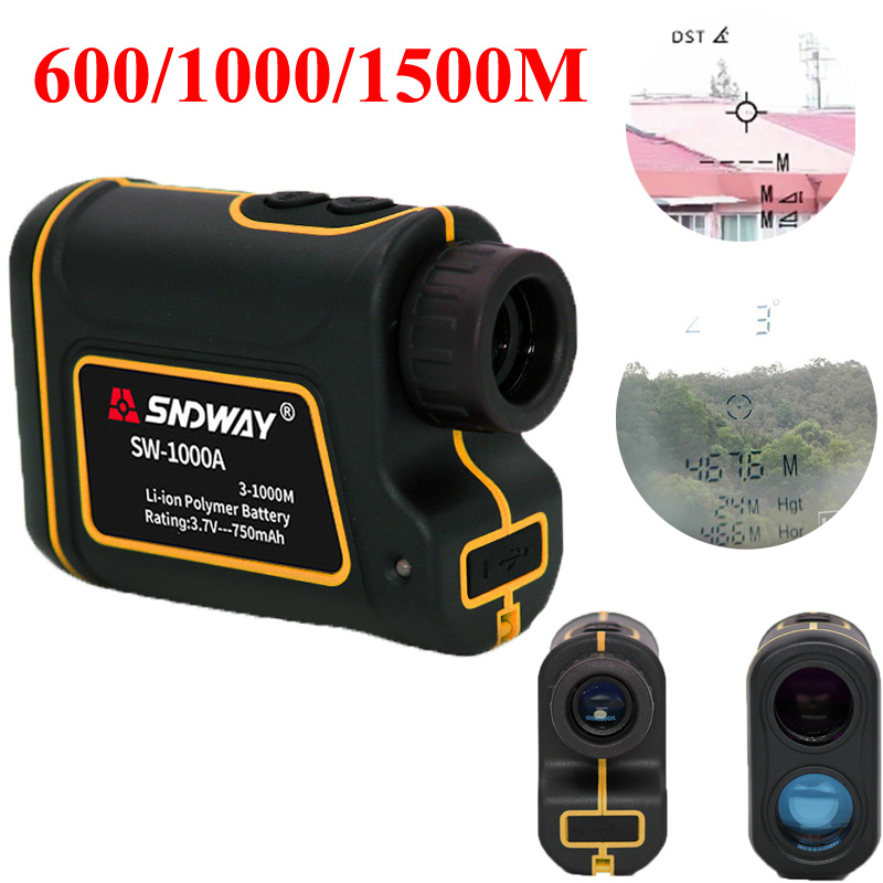 SNDWAY Telescope Laser Rangefinder 600 1000m Laser Distance Meter Outdoor Sports Golf Hunting Climbing Distance Measuring Tool