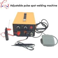220V Adjustable pulse spot welder gold and silver jewelry/necklace/earring welding machine pulse spot welder